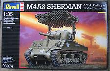 Revell 03074 1:35 M4A3 SHERMAN & T34 CALLIOPE ROCKET LAUNCHER NEU