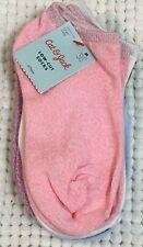 Girls Sz M 9-2.5 socks 6 pairs blue pink purple sparkly low cut Cat Jack Nwt b9