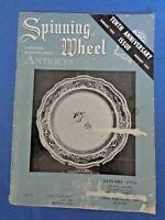 Spinning Wheel 1955 Antiques Magazine Boston & Sandwich Glass Seth Thomas Clocks