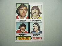 1977/78 O-PEE-CHEE NHL HOCKEY CARD #8 KEN DRYDEN BERNIE PARENT EX/NM SHARP!! OPC