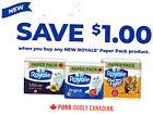 save on ROYALE BATHROOM TISSUE TOILET PAPER TOWEL PACK+ Bonus [Canada]