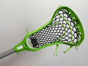 New STX Crux 400 Women's Lacrosse Stick With Crux Pro Mesh - Green