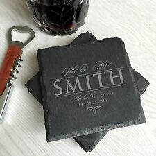 custom coasters, coasters for drink, couple gifts, personalized wedding gifts