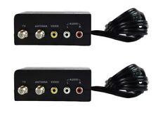 2 Pcs Mini RF Modulator Audio Video RCA Output to F Type Coax Signal Converter