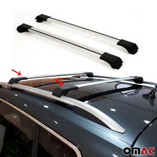 Roof Rack Cross Bars Luggage Carrier Top Rails Silver for Jeep Renegade 2015-20