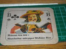 sottobicchiere beer mats birra bierdeckel carta da gioco b fiori   16 03 2017