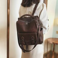Large Capacity Women Backpack School Shoulder Bag Pu Leather Fashion College
