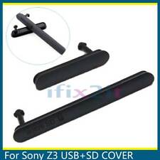 For Sony Xperia Z3 D6603 D6653 Black Dust Caps Micro SD USB Sim Slot Port Cover