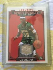 2016 UD Goodwin Goudey Lebron James Gold GU Jersey Sport Royalty LA Lakers