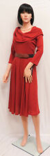 SIGNATURE BY ROBBIE BEE Rust Ribbed 3/4 Sleeve Lined Sweater Dress L NWT
