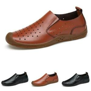 Mens Pumps Slip on Loafers Shoes Driving Moccasins Hollow out Breathable Flats L