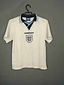 England Jersey 1995 1997 Home Kids Boys Youth Shirt Trikot Camiseta Umbro ig93