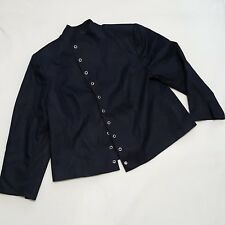 Isabella Sz 22W Blazer Womens Open Front Suit Jacket Circle Details Lined Career