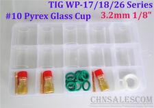 "28 pcs TIG Welding Stubby Gas Lens #10 Pyrex Cup Kit  WP-17/18/26 Torch  1/8"""