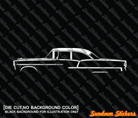 for Edsel Villager Station wagon 4-dr 1958 2x Low classic car outline stickers