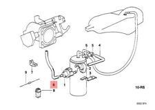 Genuine BMW E34 Estate Saloon Fuel Tank Breather Valve Hose OEM 13901735176