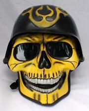 Motorcycle Helmet Skull Skeleton Death Ghost Rider Full Face Airbrush S - XXL