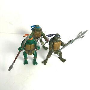 Lot Of 3 Vintage TMNT Teenage Mutant Ninja Turtles Figurines 2003/2004 [03]