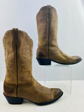 Men's Ariat Brown Leather Round Toe Western Cowboy Boots Size: 9.5 B