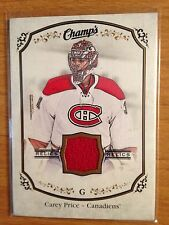 2015/16 UD Champ's Relics game used jersey card Carey Price Canadiens SP