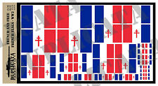 Diorama Accessory - French & Free French Flags, WW2 - 1/72, 1/48, 1/32, 1/35