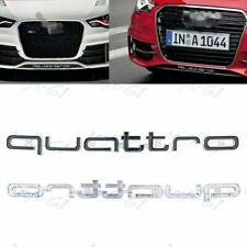 QUATTRO Logo Emblem Front Grille Badge For AUDI A3 A5 Q3 Q5 Q7 TT S-line -Black