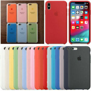 Originale Silicone Cover Per Apple iPhone X XR 11 Pro Max 8 7 6S Plus Custodie