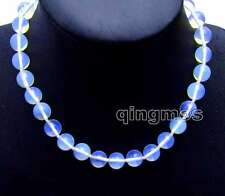 """SALE Beautiful! Big 12mm Round High Quality Blue Opal 17"""" Necklace-nec6078"""