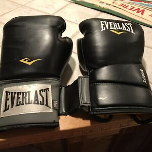 EVERLAST 16OZ boxing gloves BLACK in great shape