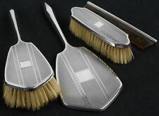 More details for sterling silver cased brush & mirror set - birmingham 1929