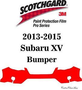 3M Scotchgard Paint Protection Film Pro Series Clear Fits 2013 2015 Subaru XV