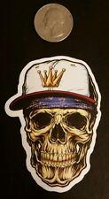 skull sticker ** 5 point crown sticker ** baseball cap sticker