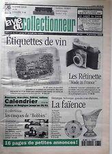 La Vie du Collectionneur n°73- Etiquettes de Vin Les Rétinette La Faïence