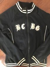 BCBG Max Azria Women's Black Zippered Jacket Sweatshirt Size M #3 on Back