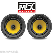 """2 Pack MTX T825CW Thunder 8"""" Round Square 2 Way In Wall Ceiling High End Kevlar"""