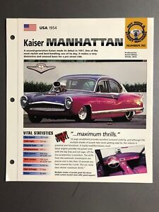 "1954 Kaiser Manhattan Coupe IMP ""Hot Cars"" Spec Sheet / Folder Brochure Awesome"