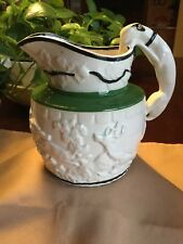 "C1830 Staffordshire Relief Moulded Hunting Jug 6.5"" Whippet Greyhound Handle"