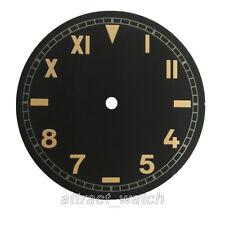 37.5mm Parnis Black Color California Watch Dail Fit ETA 6497 ST3600 Movement