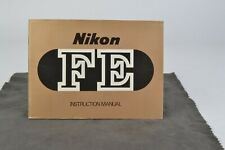 Nikon FE Camera Instruction Manual User Guide English VGC (010)