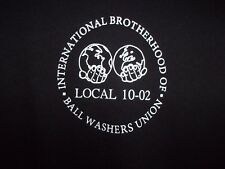 BALL Washers Union black L jersey Big or small we scrub em all novelty