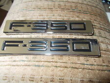 2009 2010 FORD F350 F-350 SUPERDUTY FRONT FENDER EMBLEMS BADGES NAME PLATES PAIR