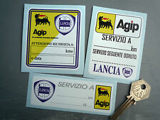 LANCIA AGIP Oil Change Service Reminder Sticker Set of 3 Delta Integrale Stratos