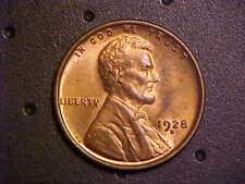 1928-D LINCOLN  WHEAT CENT - GORGEOUS GEM BU R/B!