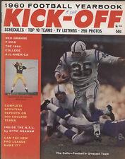 1960 KICK-OFF Football Yearbook