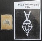 1918 Australia 5/- Grey Black & Chrome Kangaroo stamp 3rd WMK INVERTED Mint