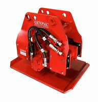 """Hydraulic Plate Compactor / Driver 19"""" x 24"""" for 4,000-18,000 lbs Excavators NEW"""