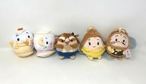 """Ufufy Disney Store Plush 4.5"""" Beauty and the Beast Rose Scented New W/Tags LOT"""