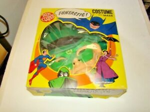 1966 Green Hornet Halloween Large (12-14) Costume & Mask by Ben Cooper in Box