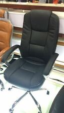 New Executive Premium PU Faux Leather Office Computer Chair Black AU POST