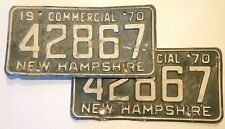 Matching Set of 1970 NEW HAMPSHIRE LICENSE PLATES * Combine Shipping!